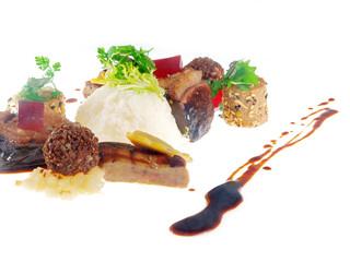 fried goose & liver platter