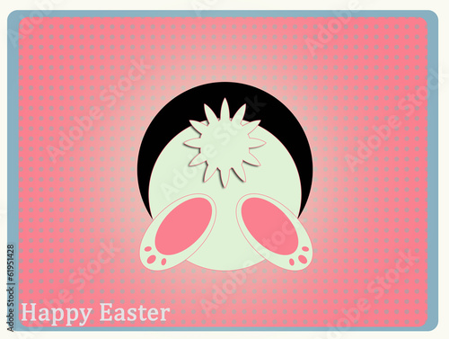 easter bunny from behind osterhase von hinten stockfotos und lizenzfreie bilder auf fotolia. Black Bedroom Furniture Sets. Home Design Ideas