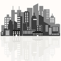 illustration of the silhouette of the city