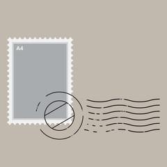 Vector illustration of stamp