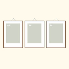 Vector illustration of picture frame