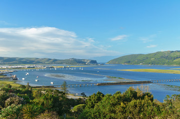 Fotorolgordijn Afrika Beautiful view of Knysna town, South Africa