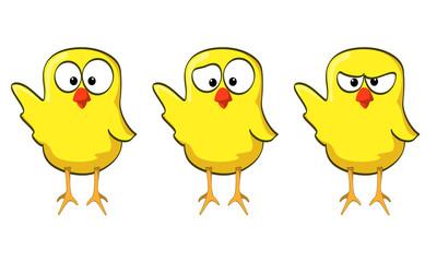 cartoon chicken collection wave