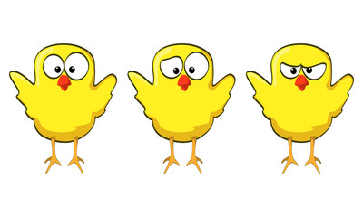 cartoon chicken collection wings up