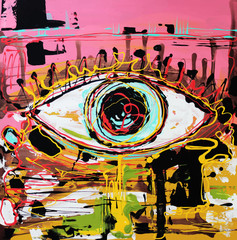 abstract composition of human eye