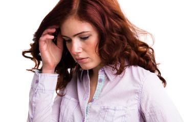 junge traurige Frau