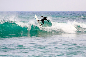 Surfing in Mirissa, Sri Lanka.