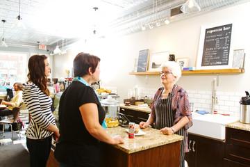 Customers in coffee shop