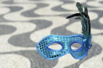 Rio Carnival Mask Copacabana Sidewalk