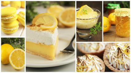 Lemon tart collage