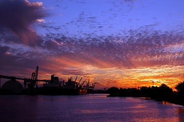 Port of Stockton at Sunset