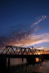 Sunset at Union Point Bridge, California