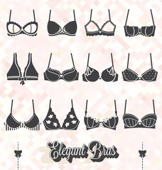 Vector Set: Bra and Bustier Silhouettes