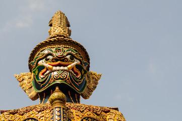 Giant statue at Wat Phra Kaew, Bangkok, Thailand