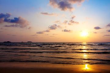 Beautiful sunset on the beach..