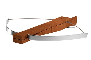 realistic 3d render of crossbow