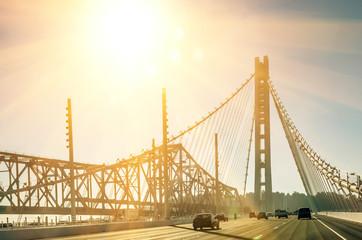 Oakland Bay Bridge in San Francisco before Sunset