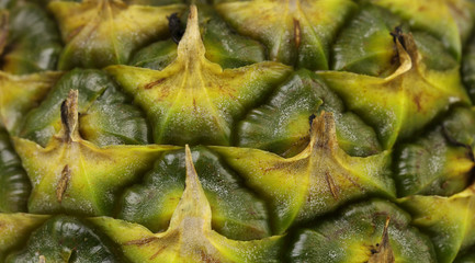 Close up texture of fresh ripe pineapple.