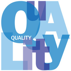 """QUALITY"" Letter Collage (customer service satisfaction choice)"