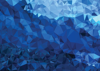 Background texture triangle geometry abstract strong blue
