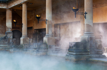 Roman Baths in Bath, UK Wall mural