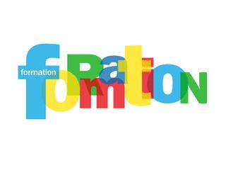 """Mosaïque de Lettres """"FORMATION"""" (études diplômes éducation cv)"""