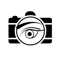 Digital Camera with an eye- photography logo