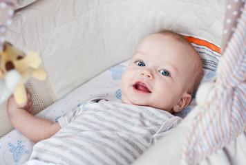 Cute  baby boy smiling