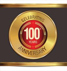 Anniversary golden label, 100 years