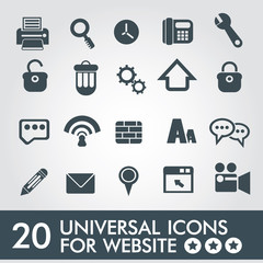 20 Universal icon set for website