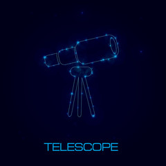 Telescope sign,vector