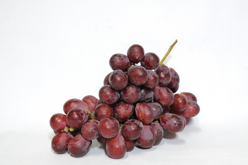 Bunch of red grapes.