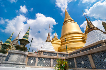 Temple of Emerald Buddha in Grand Royal Palace. Thailand