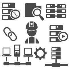Computer system icon set,vector