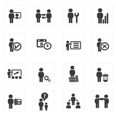 Business and human management icons