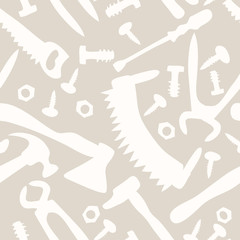 tools on a white background seamless pattern