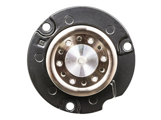 Hard Disk Drive Spindle Wheel Cog Isolated On White