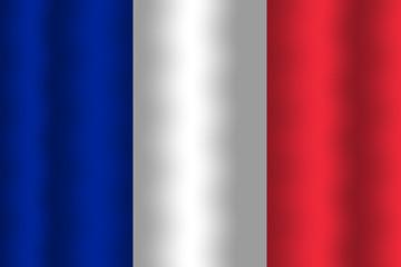Waving France Flag