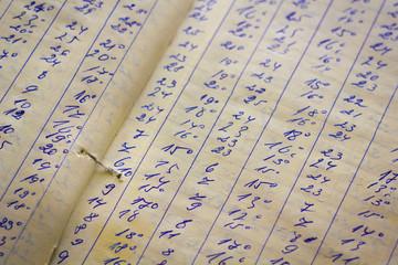 .Detail of a handwritten ledger
