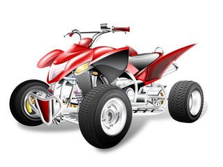 Quad ATV freigestellt