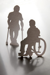 Two disabled men