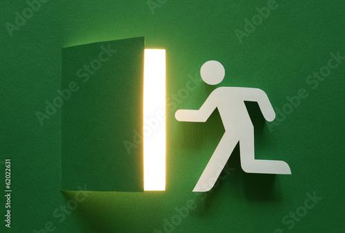 Wall mural Art emergency exit