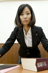 woman lawyer looking at the camera