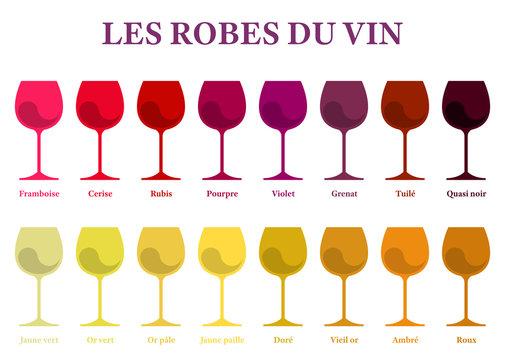 Les robes du vin