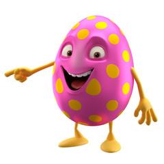modern easter egg decorations, fun 3D cartoon character