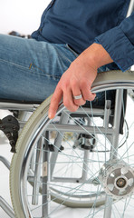 in the wheelchair