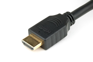 Photo of a male HDMI cable connector