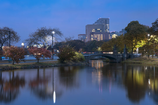 Charles river Boston on an Autumn Afternoon