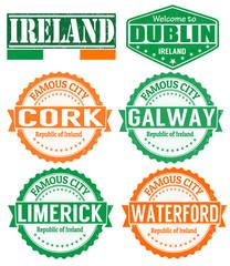 Ireland cities stamps