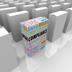 Fototapete - Compliance Unique Box Product Competitive Advantage Safest Secur
